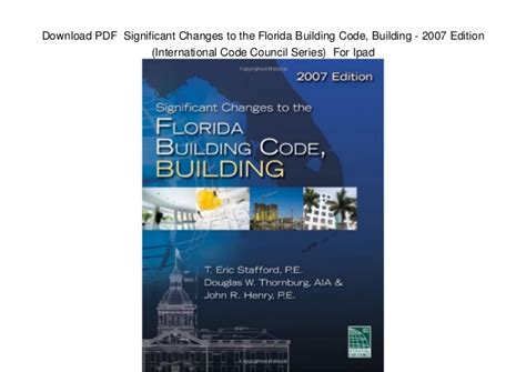 2012 international building code international code council series pdf significant changes to the florida building