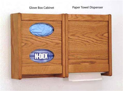 Cabinet Mallet by Wooden Mallet Oak Towel Dispenser And Glove Box Wall Cabinets