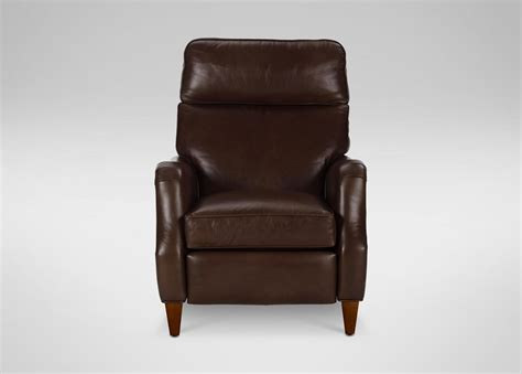 ethan allen brown leather recliner aiden leather recliner omni brown custom ship