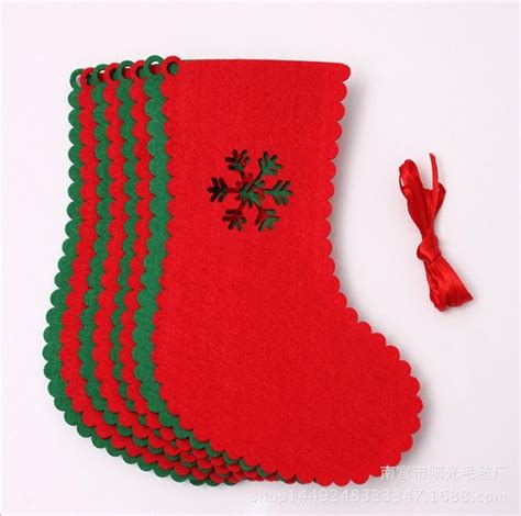 wholesale cheap soft plush felt string christmas