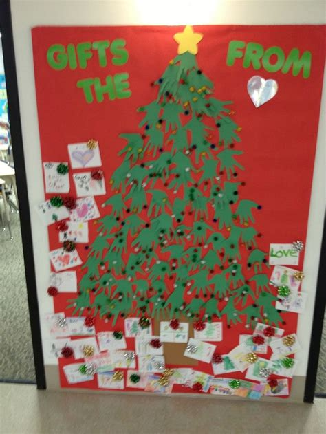 gifts from the heart bulletin board christmas pinterest