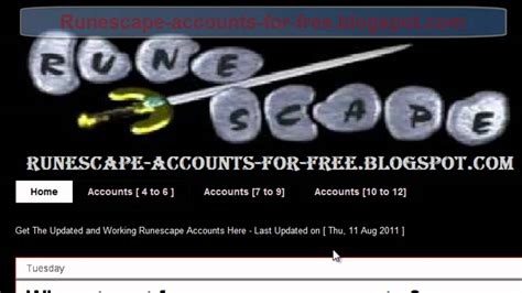 Runescape Account Giveaway - free runescape accounts giveaway 2011 runescape accounts username and password daily
