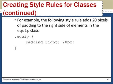 creating css rules html css chapter 04