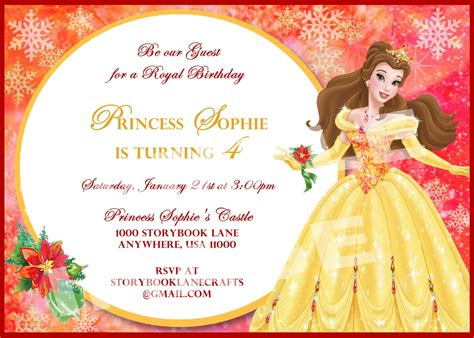 And The Beast Invitations Printables