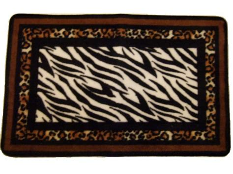 Zebra Bathroom Rugs Zebra Stripes Leopard Print Bath Mat Animal Print Rug