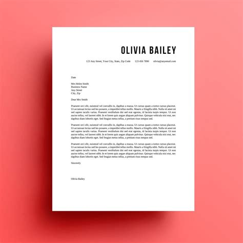 resume template cover letter instant