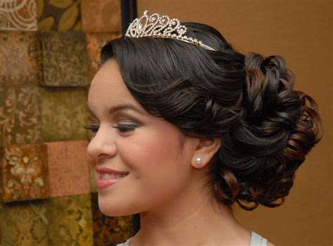 easy hairstyles for quinceaneras quinceanera hairstyle side view peinados 15 a 241 os