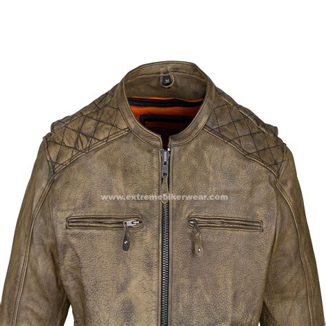 leather motorcycle mens distressed brown leather motorcycle jacket with