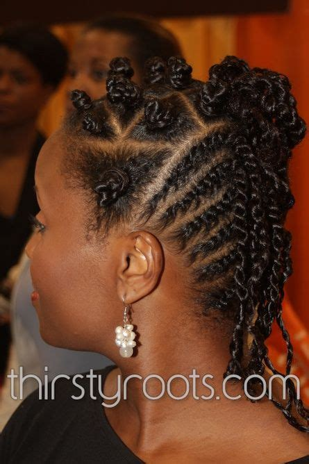 black hair bantu knots hairstyles thirstyroots com black hairstyles natural bantu knot flat twist hairstyle hair lust