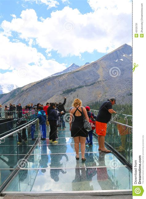 the glacier park reader national park readers books tourists at the glacier skywalk in jasper national park