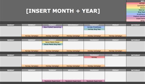 content marketing calendar template hubspot the social media content calendar template every marketer