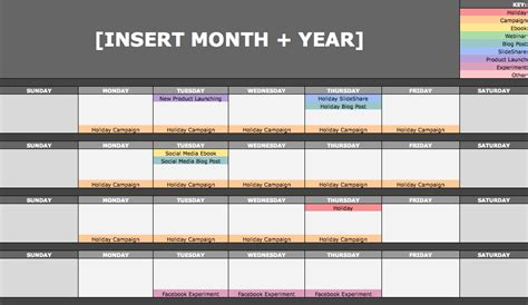 hubspot social media template the social media content calendar template every marketer