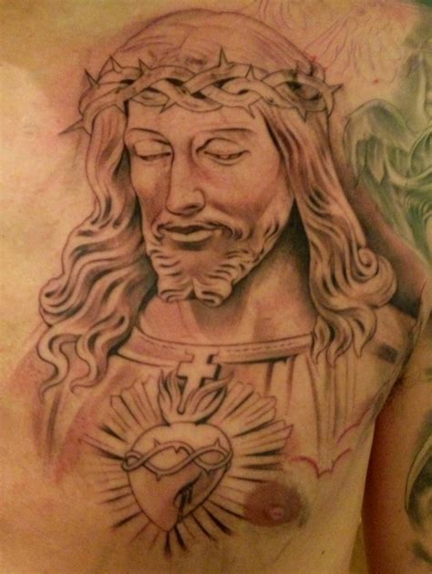 jesus chest tattoos new by miguel ochoa of lowrider jesus religious