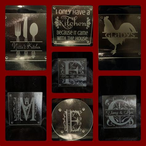 personalized etched glass cutting board for the home