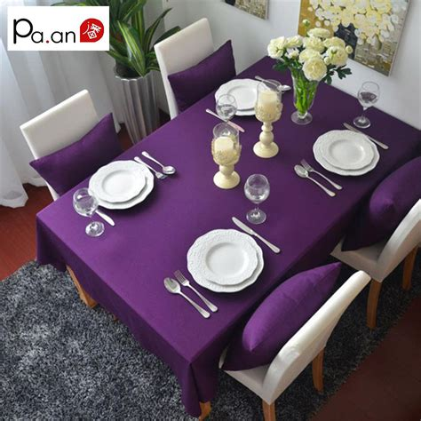 purple kitchen table purple 100 cotton rectangular table cloth european solid tablecloth for weddings hotel