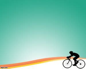 Cycling Training Powerpoint Template Bicycle Ppt Templates Free