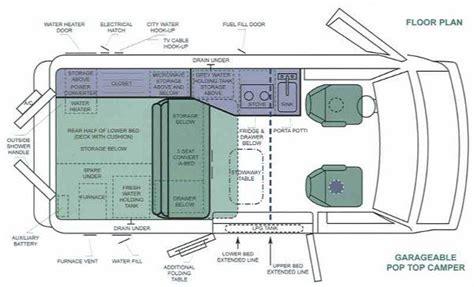 sprinter van conversion floor plans layout of pop top conversion van my pan american highway