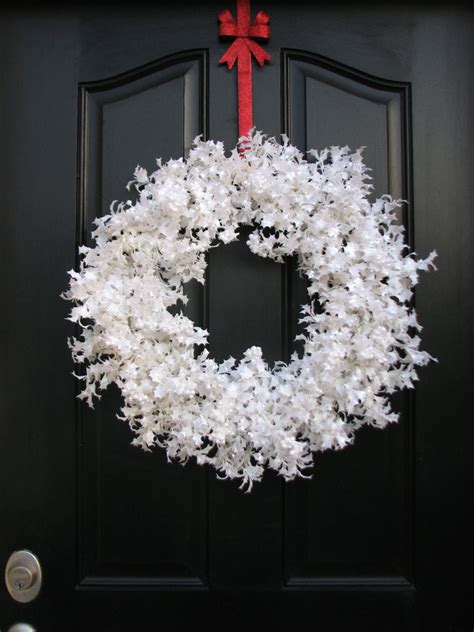 white snow glitter wreath christmas wreath white christmas
