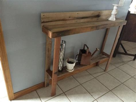wood entry table recycled pallet entryway table pallet furniture plans