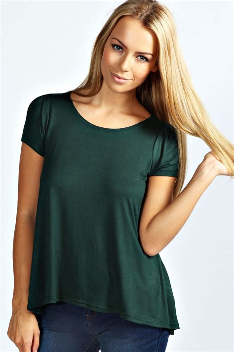 swing tops for women boohoo womens ladies lara cap sleeve swing tee top ebay
