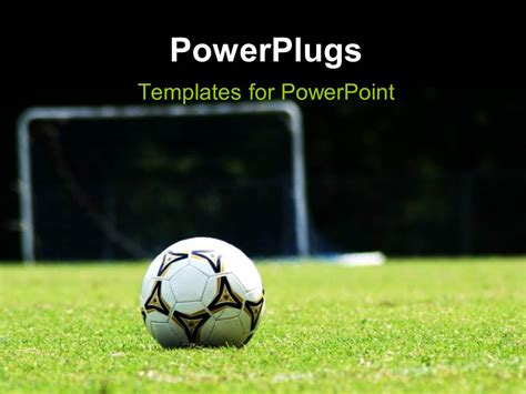 Soccer Powerpoint Template Powerpoint Template White Soccer Ball On Green Grass Field 26650