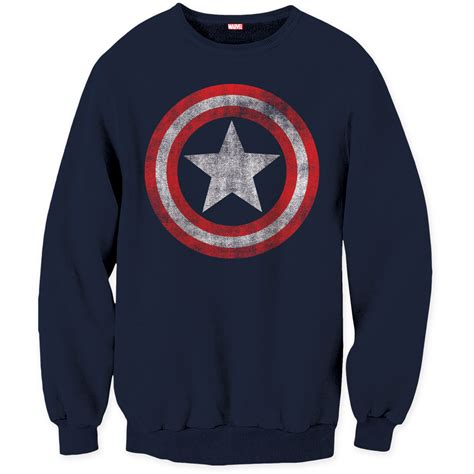 Captain America Sweater marvel comics mens captain america shield logo sweater