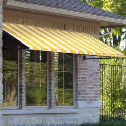 awnings for homes at lowes shop awntech 604 5 in wide x 36 in projection yellow white
