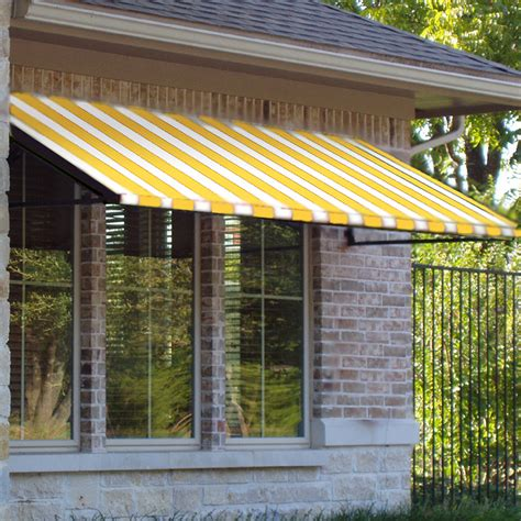 Awnings At Lowes by Shop Awntech 604 5 In Wide X 36 In Projection Yellow White