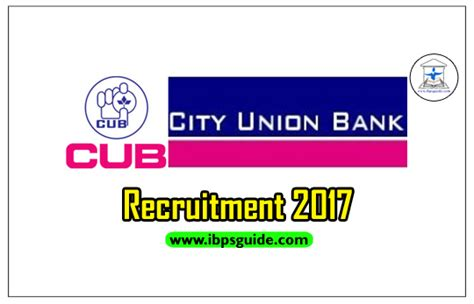 bank recruitment city union bank recruitment 2017 check here to apply now
