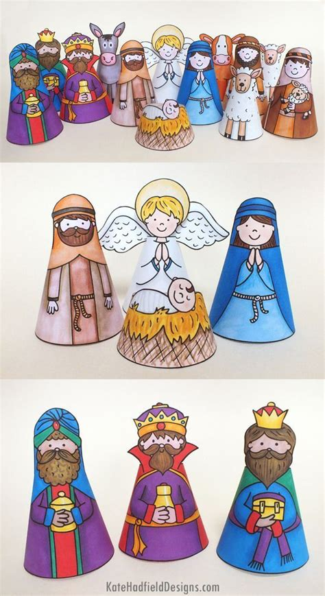 printable nativity scene characters 25 best ideas about nativity scenes on pinterest