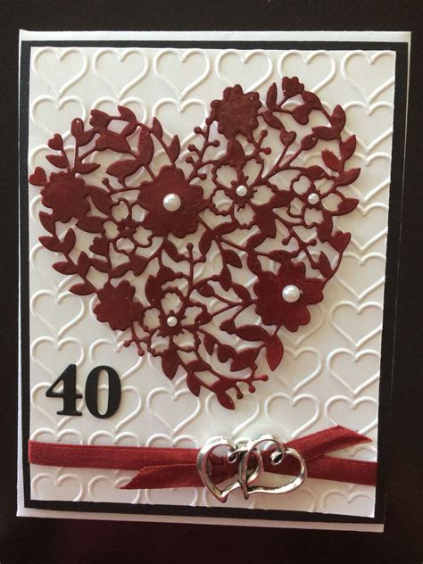 bloomin thinlit for 40th anniversary ruby cards all occasions 40th anniversary