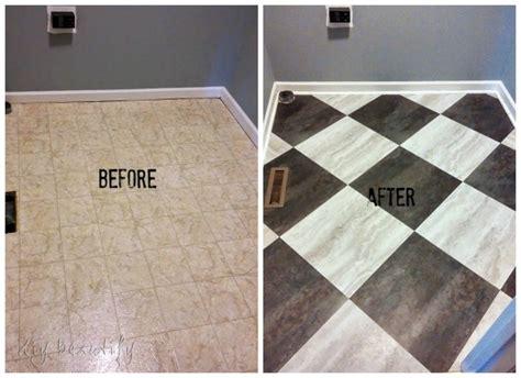 Redo Bathroom Ideas Transform A Laundry Room Floor With Peel And Stick Tiles