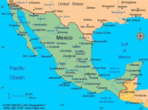 A Map Of Mexico by Map Of Mexico With Facts Statistics And History