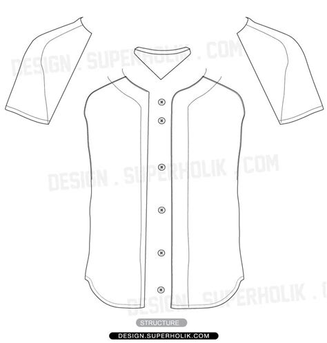 pattern baseball jersey baseball jersey shirt vector template wear pinterest