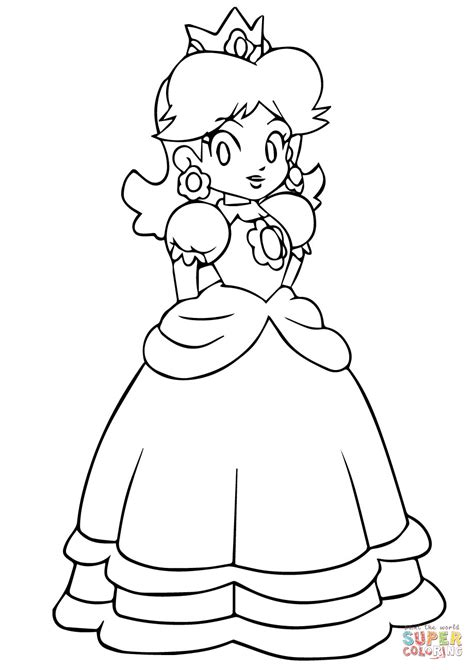 mario daisy coloring page mario daisy coloring page free printable coloring pages