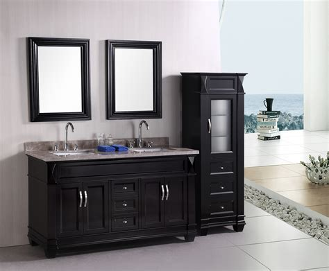 adorna 61 quot traditional bathroom vanity set