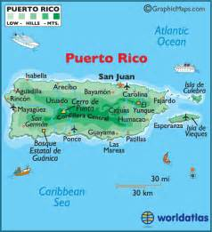 San Juan Puerto Rico Map by Puerto Rico Large Color Map