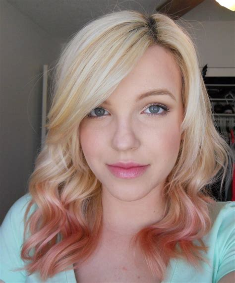 rose gold blonde hair color bewitched by blush rose gold hair
