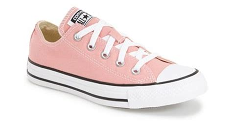 Converse All Pink Low converse chuck all ox low top sneaker in pink lyst