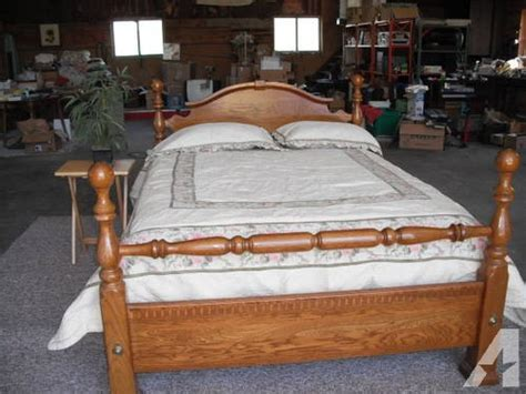 used full size bed used oak four poster cannoball queen bed or full size bed