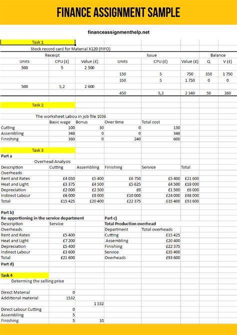 Finance Homework Help by Best Financial Management Assignment Help