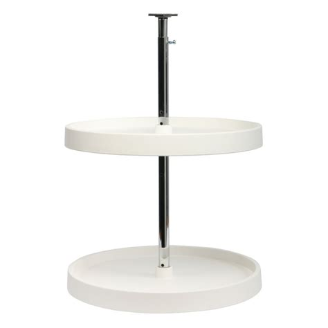 18 inch cabinet lazy susan white full round in cabinet knape vogt kidney shaped 2 shelf poly lazy susan 24
