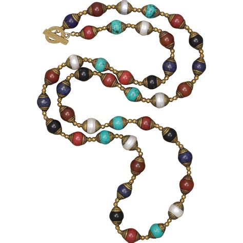 multi gemstone tibetan made bead necklace from