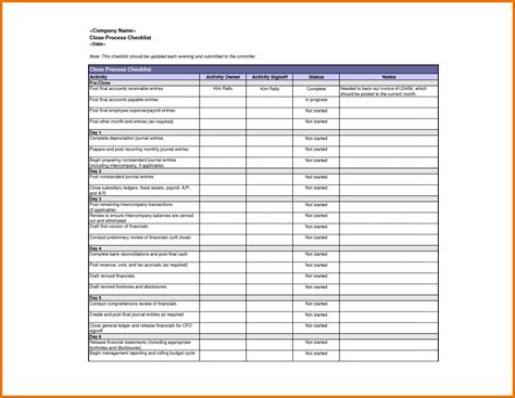 5 excel checklist template itinerary template sle