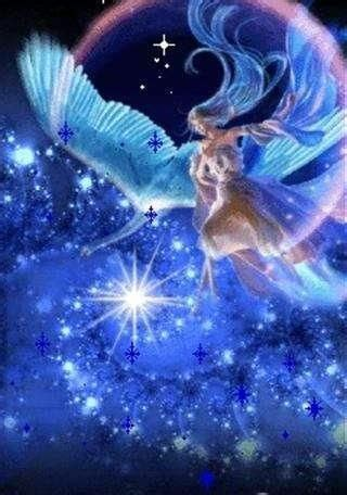 wallpaper peri biru 157 best moon angels images on pinterest