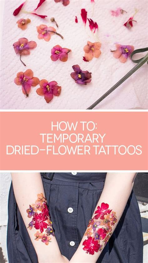 how to get a temporary tattoo 25 best ideas about pressed flower craft on