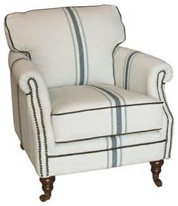 blue striped armchair camilla striped linen and blue club chair traditional