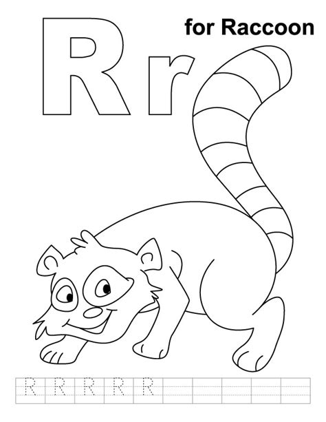 R For Rabbit Coloring Page by R Is For Rabbit Coloring Page