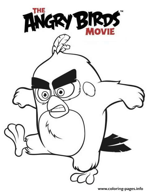 Angry Birds Movie Coloring Pages | free coloring pages of red angry birds