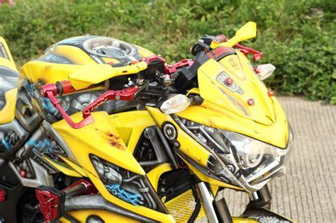 Sidepad Kawasaki Z250 250 Fi kawasaki z250 jadi bumblebee gilamotor
